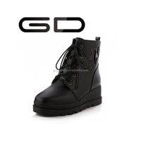 Star shoes fashion latest lady's ankle leather shoes winter casual shoe