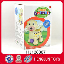 Battery-operated toy bump&go dog with music and light from China manufacturer
