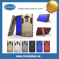 Kickstand rugged rubber case phone back cover case for LG G4