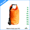 Customized light weight waterproof dry bag backpack with Solid color PVC fabric