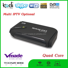 s2 android stb Quad core tv box kitkat 4.4 Amlogic S805 DVB S2 2.4G wifi KODI