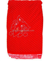 j219-1 red color 100% swiss velvet fabric for african party