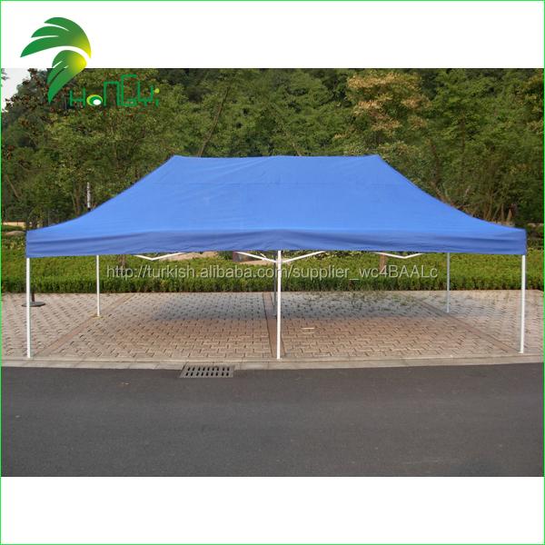 özelleştirilmiş tarafı katlanabilir mavi çadır gölgelik oxford kumaş