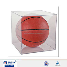 hot sale acrylic display case for basketball display, acrylic display box for basketball stand