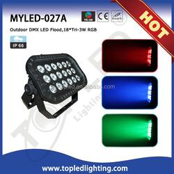 DMX 18pcs IP66 outdoor flood LED garden light