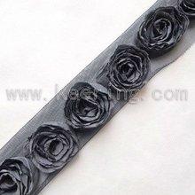 Wholesale fabric rose flower lace trim