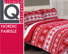 red coral fleece, Christmas pattern, Soft comforter
