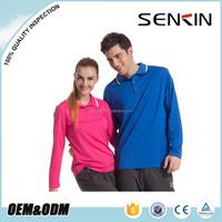 Autumn Long Sleeve Sport Dri Fit Polo Shirt Color combination Polo T shirt wholesale