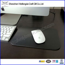 Fashion High Quality Square Black Leather Mouse Pad Favor