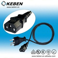 Hot selling Europe standard of 3pin Swiss ac power adaptor
