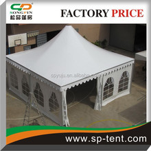 4x4m outdoor waterproof canopy pagoda tent and party pavilion with decorative linings and curtains for sale