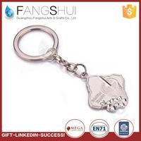 Factory customized custom promotion slogan keychain