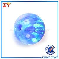 Blue Synthetic Opal, Loose Ball Opal, 6mm Opal Gems