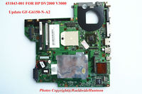 Original laptop motherboard for HP DV2000 V3000.447805-001,Socket S1,DDR2,Update NF-G6150-N-A2,Fully Tested&Working perfect.