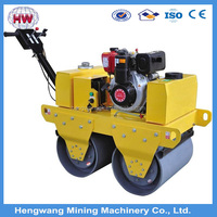 High quality diesel engine small manual road roller for sale, high quality steel drums