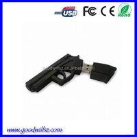 pvc mini gun shap usb flash Drive for kids gift