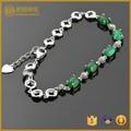 Joyería recién llegado! promoción de la joyería! súper ventas plata 925 pulsera con incrustaciones verde zirconia