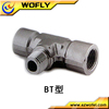 SS 316L Fractional Branch Tee male female tube fittings