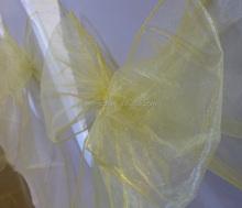 Cheap Yellow Wedding Chairs Decoration Eggplant Chair Sashes