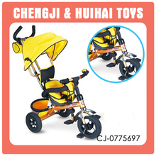 Cheap good quality colorful folding metal baby tricycle