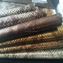 2015 New Arrival High Quality Multiple Color Snake Skin Pu Shoe Leather
