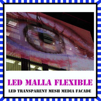 flexible full color led media facade,outdoor led video wall,Sunrise professional factory