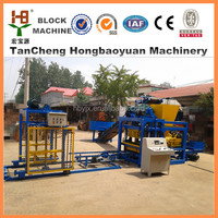 high output cement brick machine cost QTJ4-25 D making machine concrete block used