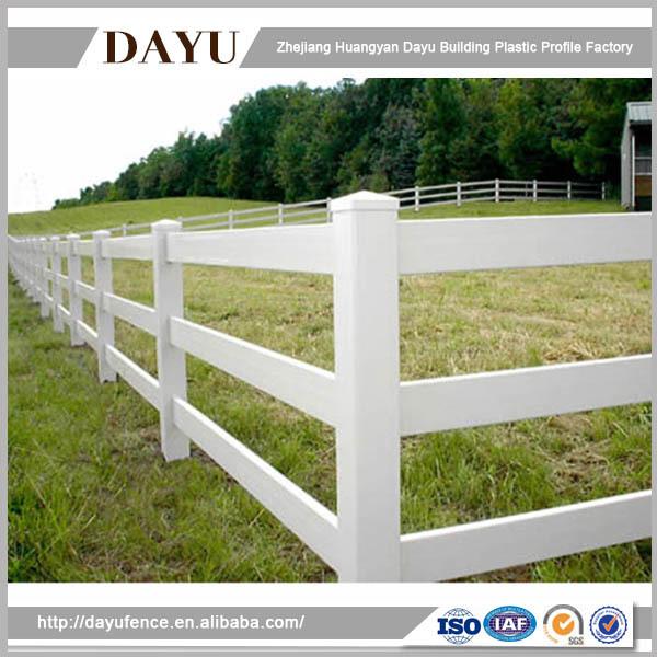 Easy Install Farm Vinyl 3 Ranch Rail Horse Fence