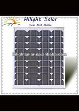 High efficiency mono 25w solar panel price india with CE IEC ISO