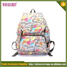 manufacturer supply cute kids cartoon dog printing backpack satchel for girl