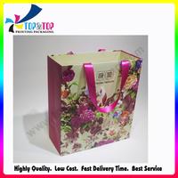 2015 OEM Design Paper Printing Cosmetic Shopping Bag