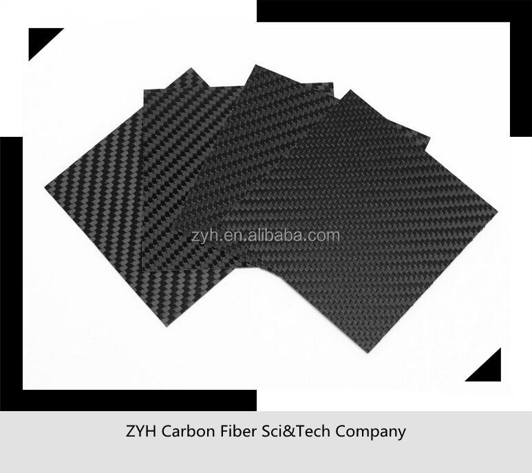 100% gerçek karbon fiber 400*500mm 2mm karbon fiber laminat/yaprak
