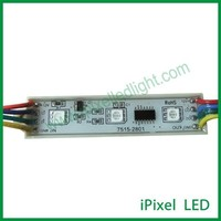 75mm x 15mm digital ws2801 advertising led pixel module with 3pcs 5050RGB LED chip