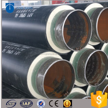 china supplier insulation pipe with HDPE outer sleeve for heating pipeline system in Canada
