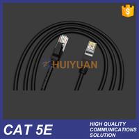 HUIYUAN best quality CAT 5E Elegant Black Network cat6 patch cord 2m 3m 5m
