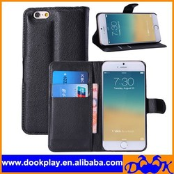 Folio PU Leather Cover Case for iPhone6 iPhone 6 4.7 Flip Leather Cover Case Credit Card Wallet