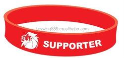 football basketball team logo game silicone bracelet