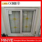 design decorativo upvc janela deslizante de plástico com gancho de bloqueio