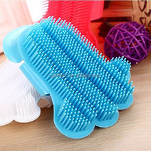 Dog Cat Puppy Cleaning Bath Foot-shipped Brush Massage Tool Gloves Pet Supplies