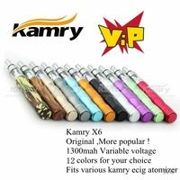 Kamry In Stock Vaporizer Pen X6 E cigarette best Starter Kit 3.6-4.2V VV Mod 12 colors for you