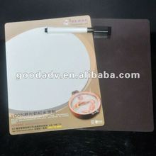 2012 OEM design gifts magnetic fridge writing cardboard with pen