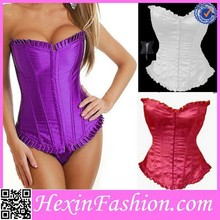 Wholesale colorful ovderbust thigh corset