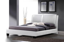Ikea modern king size cum frame with diamond crystals sheets genuine/PU/Faux luxury cheap upholstered white leather bed