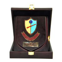 With wooden box wooden medals
