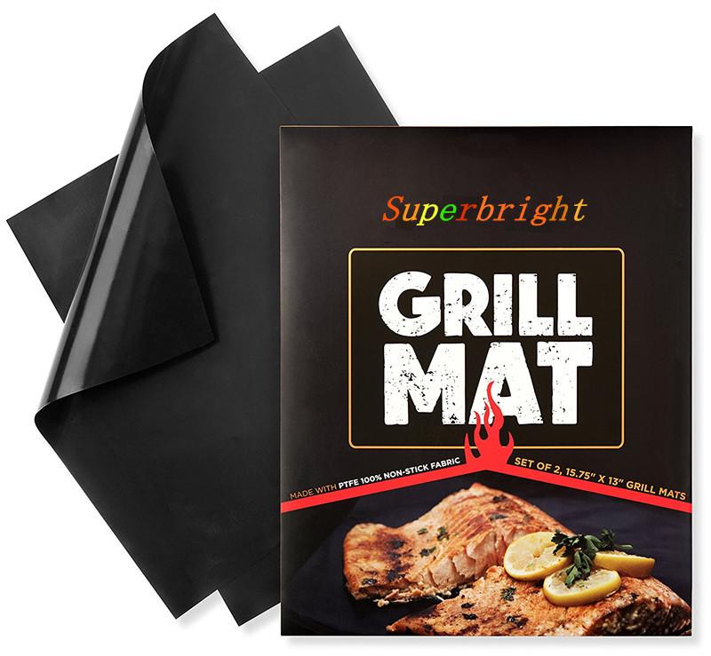 Antiadherente de teflón resistente al calor saludable bbq grill mat