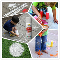 Autokem marking chalk spray paint, temporary marking paint, washable/removable//handy child safe spray paint