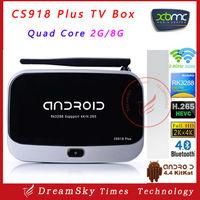 Full Hd 1080p Android Tv Box Cs 918 plus, Android4.4 Smart TV Box 2GB/8GB WIFI Bluetooth 4.0 4K FULL HD XBMC H.265