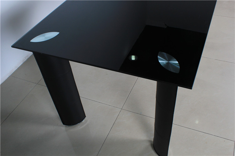 DT-809 comedor diseño te negro vidrio templado mesa comedor ...