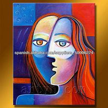 venta caliente el mejor precio de la figura abstracta pintura pinturas en miniatura