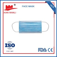 Many types of medical colored disposable pp berad face mask
